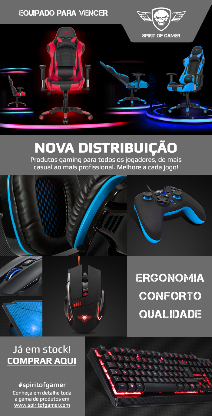 NOVA DISTRIBUIÇÃO - SPIRIT OF GAMER