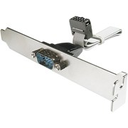 DIGITUS BRACKET SLOT PORTA SERIAL DB9/M - IDC 2x5PIN/F 0.25MT