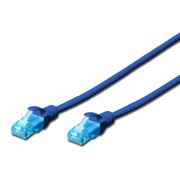 DIGITUS CHICOTE CAT5E UTP CCA PVC 1MT AZUL