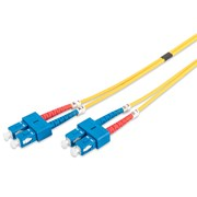DIGITUS CHICOTE FIBRA DUPLEX SINGLE MODE 09/125 SC/SC OS2 - 5MT
