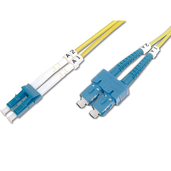 DIGITUS CHICOTE FIBRA DUPLEX SINGLE MODE 09/125 LC/SC OS2 - 2MT