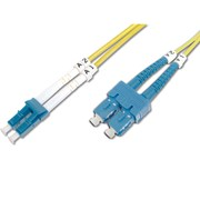 DIGITUS CHICOTE FIBRA DUPLEX SINGLE MODE 09/125 LC/SC OS2 - 10MT