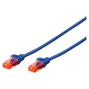 EWENT CHICOTE PATCH CABLE CAT6 UTP BLUE - 1MT