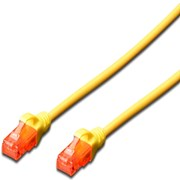 EWENT CHICOTE PATCH CABLE CAT 6 UTP YELLOW - 1MT