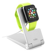 PURO SUPORTE ALUMINUM DESK HOLDER APPLE WATCH SILVER