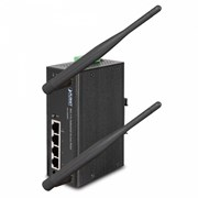 PLANET ACCESS POINT WIRELESS-N INDUSTRIAL 4x10/100(ONE POE) - IP30(-10 to 60 °C)