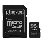 SD KINGSTON 32GB MICRO SDHC CLASS 4 +1 ADAPTADOR SD