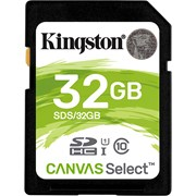 SD KINGSTON 32GB SDHC CANVAS SELECT 80R CL10 UHS-I