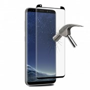 "PURO SCREEN PROTECTOR TEMPERED GLASS FULL EDGE GALAXY S8+ 6.2"" FRAME BLACK"